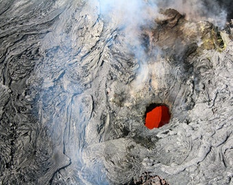 Lava Flow Underground Near Kilauea, Hawaii