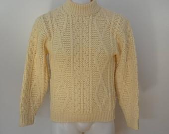 on sale Vintage Penneys TOWNCRAFT Plus Sweater wool 1970's size medium