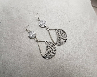 chic long earring silver