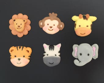 animal royal icing decorations 12 pieces, baby's birthday decorations