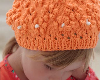 Amazing Floral Beanie, Knitting Pattern PDF Personal Downloaded File to Knit a Beanie, Easy Knit Pattern, Gorgeous Baby Hat