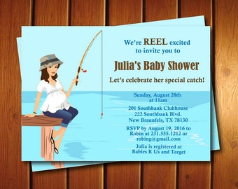 Fishing Baby Shower Invitation | Gender Neutral Baby Shower Invite