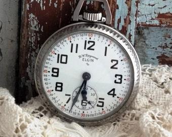 Antique Elgin B W Raymond Railroad Pocket Watch by avintageobsession on etsy...20% Discount