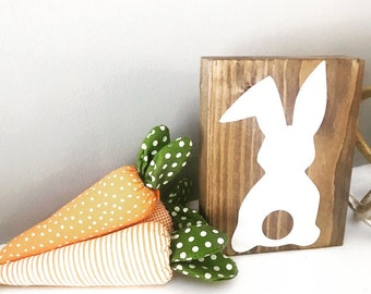 Rustic Bunny Block, Rustic Easter Decor