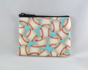 Baseballs Coin Purse - Coin Bag - Pouch - Accessory - Gift Card Holder