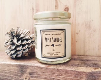 Apple Pie Scented Candle, Apple Pie Soy Candle, Scented Soy Candles, Apple strudel Candle, Bakery Scent, Apple Scented Candle