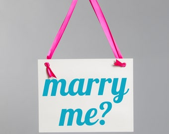 Marry Me Proposal Sign | Engagement Banner Handmade in USA | Creative Ways to Propose to Girlfriend | 1716 BW