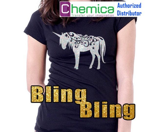 """20""""x 1 yard / 1-sheet Chemica Bling-Bling Glitters - Heat Transfer Vinyl - HTV"""