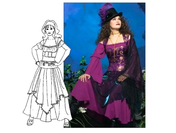 Sorceress Magician Pirate Gypsy Belly Dance Costume Sewing Pattern ...