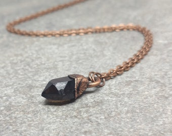 Raw Crystal Jewelry - Gifts for Her - Mothers Day Gift - Boho - Layering Necklace - Smokey Quartz Necklace - Smokey Quartz Crystal Pendant