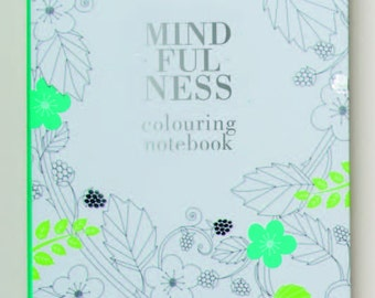 Mindfulness Colouring A5 Notebook, Adult relaxation Coloring Journal book  Colouring book for Adults, Soothing coloring Journal