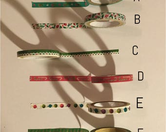 Washi tape sample: skinny Christmas #2