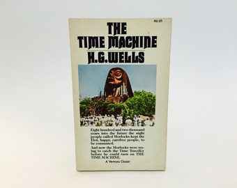Vintage Sci Fi Book The Time Machine by H. G. Wells 1980 Movie Tie In Edition Paperback