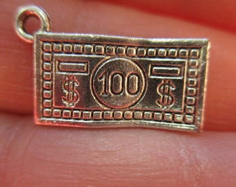 Set of 5 100 Dollar Bill Charms