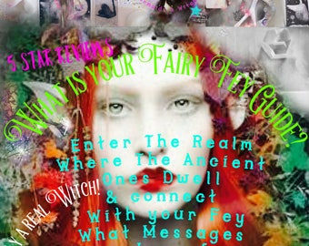 Fairy Messages Reading ~Who Is Your Fey? /  PSYCHIC Reading ~ Includes a digital download