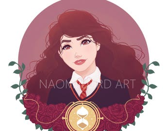 """Hermione Granger Print and/or sticker (6x6"""" print or 8x8"""")"""