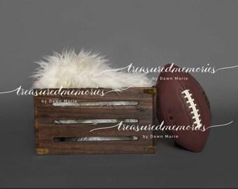 digital football prop, digital background, newborn boy or girl
