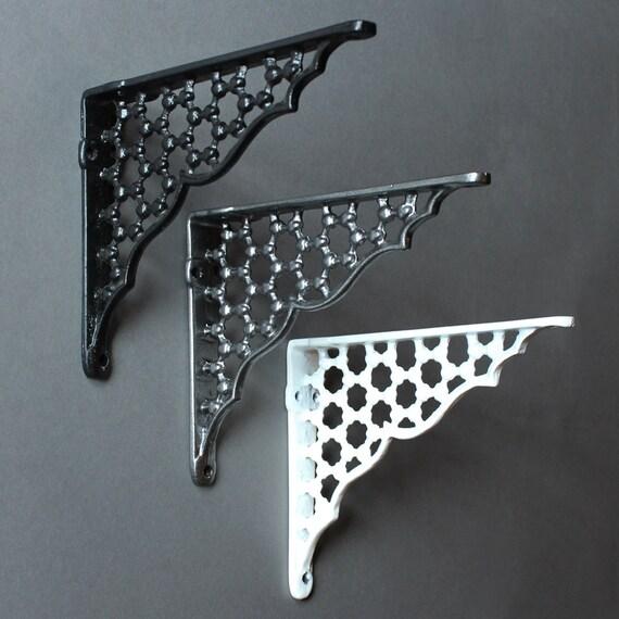 cast brackets shelf about iron is s loading vintage metal details industrial pair style x bridge image itm
