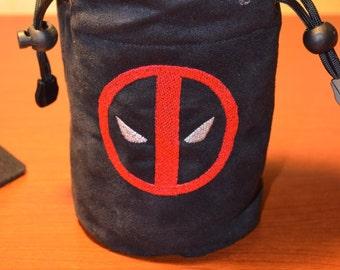 Dice Bag custom Embroidery Suede Dead Pool