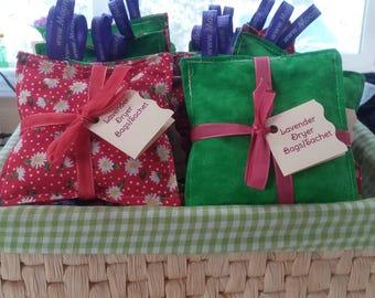 Lavender Bud Sachet,Lavender Dryer Pillows, Drawer Sachets - Organic