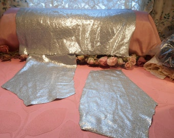 Vintage Fabric Silver Sparkle and Shine Lot
