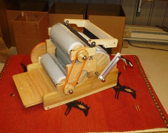 """S C P Triple Drum """"Standard"""" Drum  Carder with Brush, 90/120/120 TPI , manual"""