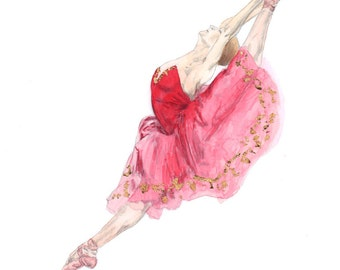 Ballet Water Colour Painting - Kitri