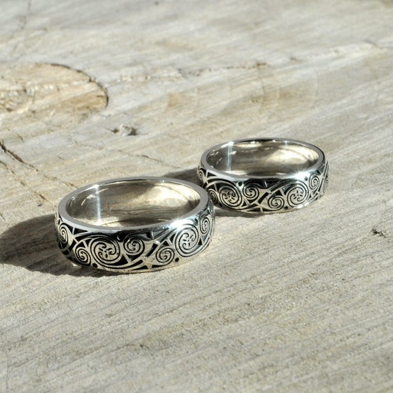 Sterling Silver Wedding Rings Book of Kells Silver Celtic