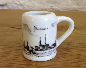 Vintage Mid Century Royal Porzellan Bavaria KPM Handarbeit Mug.Dortmund Souvenir Mug..