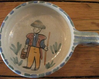 vintage BOWL for OLIVES, nibbles, Portuguese, shepherd, country, farmer, folk, traditional, cottage chic