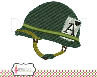 Army machine embroidery design. Army helmet embroidery. Armed forces helmet adds a patriotic embroidery touch to your project.
