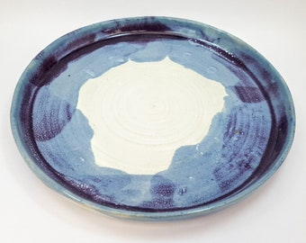A hand thrown stoneware plate