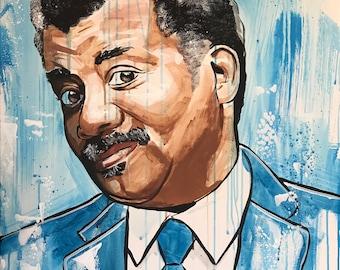 Original Neil DeGrasse Tyson Painting