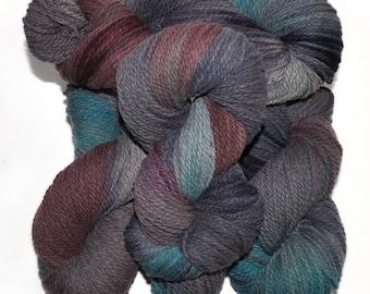 Hand dyed yarn - Columbia Wool yarn, Worsted weight, 170 yards - Hoenir