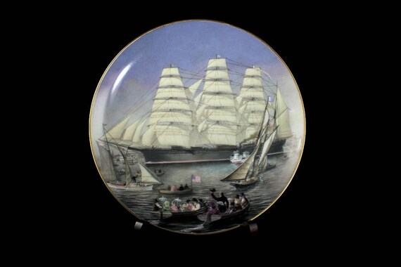 1981 Collectible Plate, Great Republic, The Great Clipper Ships Collection, Limited Edition, Decorative Plate, Wall Decor, Franklin Mint