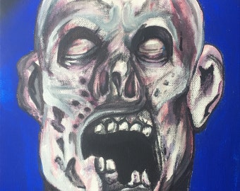 "ORIGINAL 8x11 ""Portrait of the Undead"" on canvas direct from the artist!"