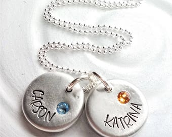 Mother's Necklace - Birthstone Mother's Jewelry - Name Necklace - Gift for Mom - Gift for Her - Child's Name Necklace - Mother's Day Gift