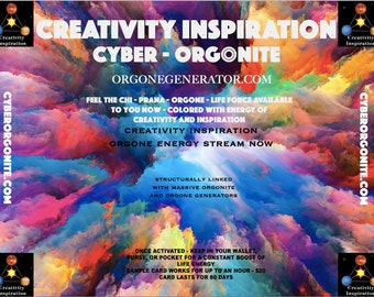 ORGONITE® Creativity and Inspiration Orgone Card