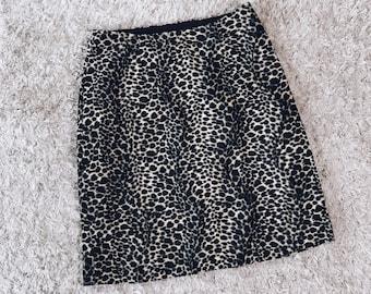 90's Faux Leopard Grunge Skirt
