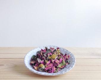 Organic Rose & Chamomile White Tea 1 oz - loose leaf floral white tea