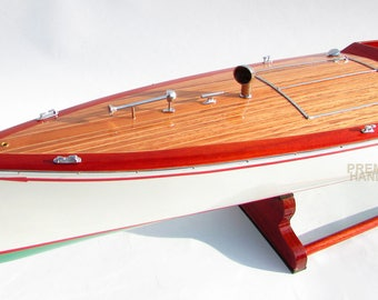 Charles D. Mower Numbers Boat - Handmade Wooden Classic Boat Model NEW
