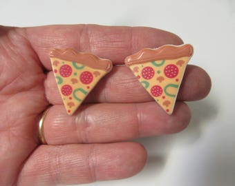 FREE SHIPPING! Pizza Slice Stud Earrings-Pizza Stud Earrings