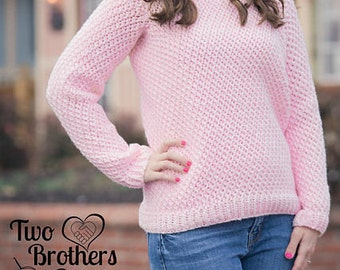 Instant Download- Crochet Pattern- Savannah Sweater