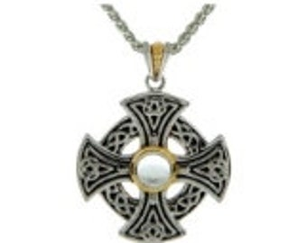 EXCLUSIVE Keith Jack Celtic Cross (Sterling Silver + 10k Gold)