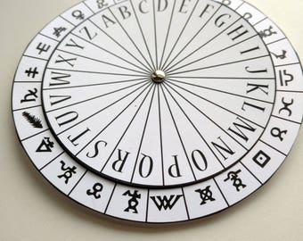 Symbols Spy Decoder Cipher Wheel Printable - Ancient Writings Secret Agent Coded Message Encoder Decryption Digital File