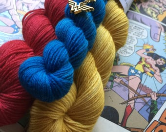 Women of Wonder sock kit - Hand Dyed Yarn