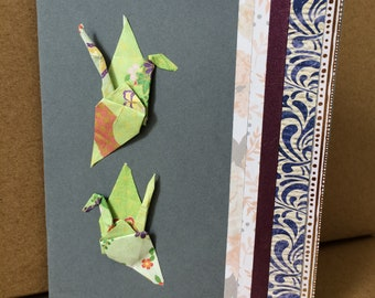 Origami Cranes Card
