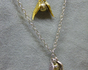 Harry Potter Inspired Golden Snitch Pendant Necklace