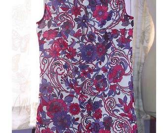 Handmade 1960s dress in original 60s fabric!