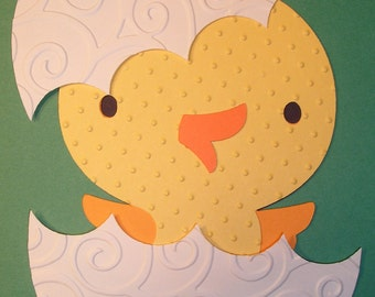 Easter baby Chick and Egg Paper Piecing